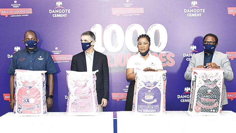 Dangote Cement's 'Bag of Goodies' to produce nine millionaires daily