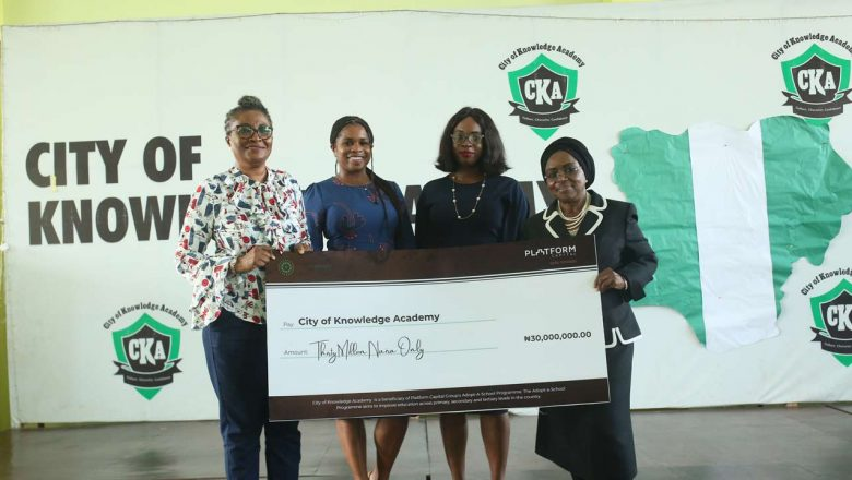 Platform donates pool, sports hall, N30m scholarships to CKA